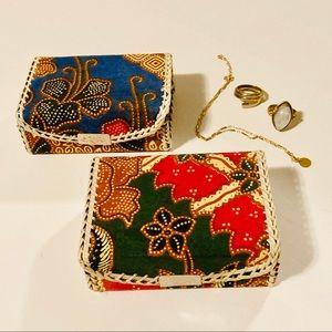Fabric Trinket Box (Set of 2)